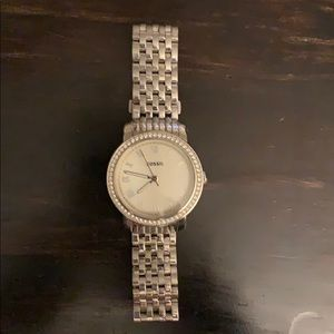 Women's Silver all stainless steel fossil watch